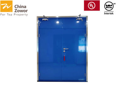 Cina Double Flush Panel Panel Biru Painted Baja FD60 Fire Door / Max.  Ukuran 2100 x 2300 mm Distributor